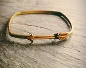 square metal arrow bangle bracelet