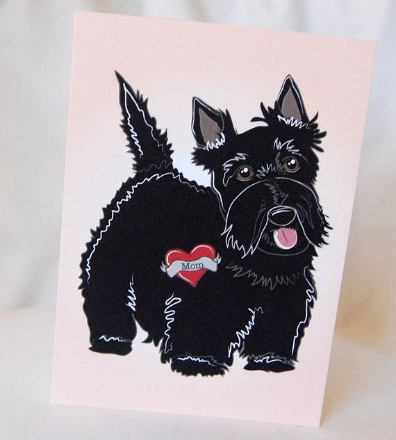 Custom Scottie Tattoo Greeting Card