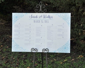 Custom Designed Seating Chart for your Wedding Reception or Other Event