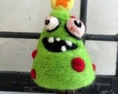 Zombie Christmas Tree - Needle Felted Ornament