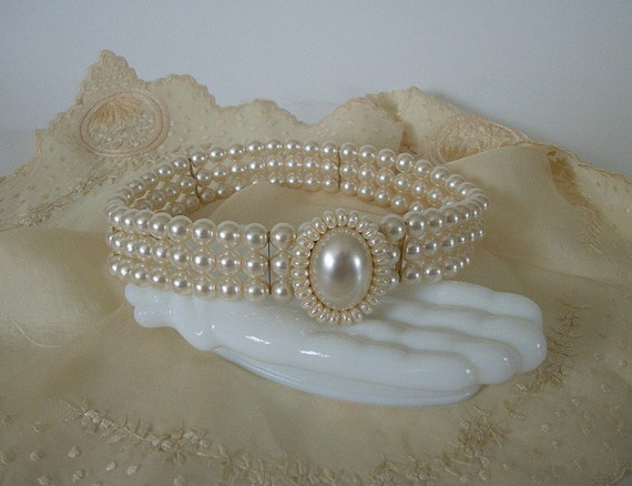 Vintage Faux Pearl Choker Necklace, Bridal Choker Necklace, Wedding  Bride Necklace, Romantic Victorian Style Jewelry