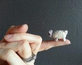 hello there. mini sheep crochet. amigurumi. miniature
