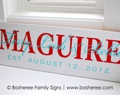 Painted Established Sign Personalized Name Sign - Perfect Gift Idea - ETS-02