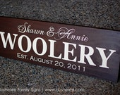 Personalized Family Name Wood Sign / Painted Custom Family Sign - Perfect Gift Idea - ETS-103