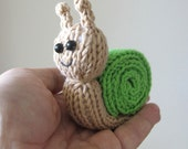 Quick Little Snail - INSTANT DOWNLOAD PDF Knitting Pattern
