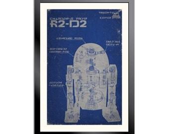R2D2 Schematic Poster