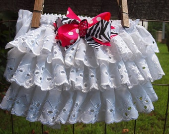 Custom Boutique Girly Diaper Cover/ Fancy Pants with lace.
