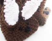 Knitted Rabbit Slippers...