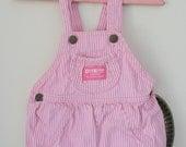 Vintage OshKosh B'Gosh Pink Stripe Baby Romper - 24 months