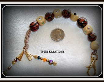 Golf Stroke Counter or Walking Counter with Handmade Beads