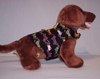 HARNESS PET WEAR Doxie Dog Print Shirt
