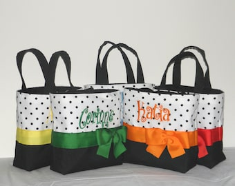 5  Personalized, Monogrammed toes, Bags, Black / white.