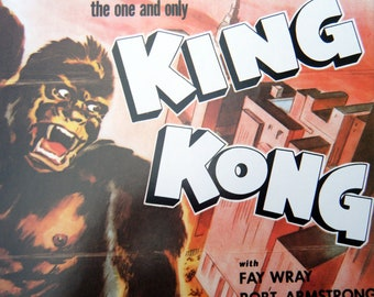 KING KONG Vintage Sci-Fi Movie Poster Book Print 10 x 14 Horror Movie