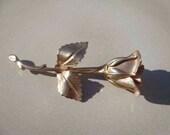 Vintage Giovanni Gold Toned Rose Brooch