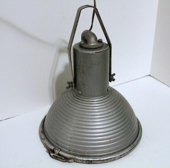 Vintage Industrial Beehive Spotlight Spot Light Aluminum Round Bright
