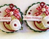 CLEARANCE - Sweet Christmas Embellishments - Ornaments - Merry Christmas
