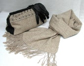 Hand Woven  Wool/Silk Set - Scarf and Clutch