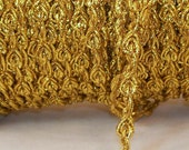 Gimp Gold Metallic Braid  - Trim Me Up 5 Yards Destash