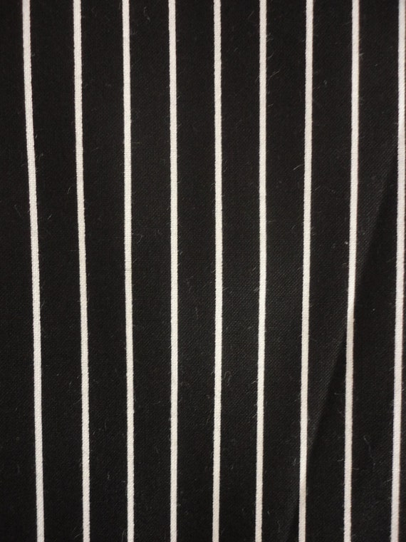 Cotton Fabric Black And White Stripe Design 1 By