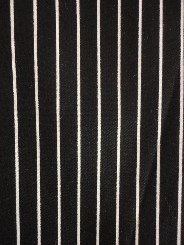 Cotton Fabric Black And White Stripe Design 1 Yard