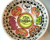 Custom Designed and Made just for you BIG Ceramic Candy Halloween Serving Bowl