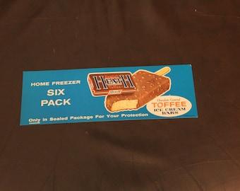 VINTAGE NOS English Heath Toffee Ice Cream Bar Advertising Card