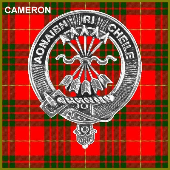 Cameron Clan Crest Scottish Pewter Cap Badge CB01