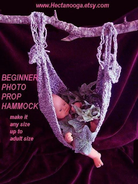 CROCHET PATTERN, baby sling, Photo Prop Hammock, make it any size to adult size.  BEGINNER level.O.K. to sell your finished items, num 407