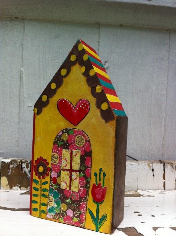 Yellow House Repurposed Art