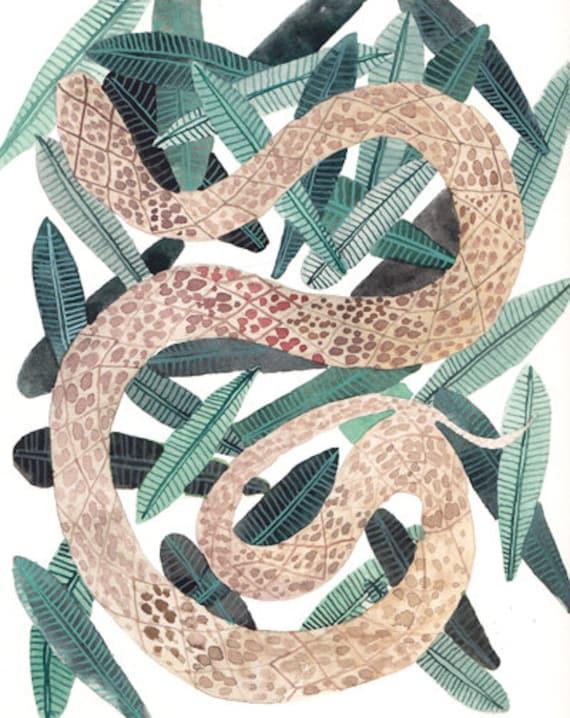 Garden Snake No. 2 - Original painting