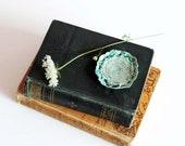 green swirl handmade cone incense burner - gift under 10