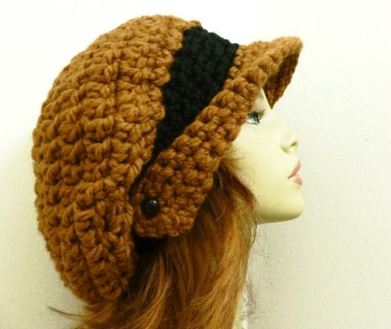 Free Crochet Pattern Slouchy Hat With Brim : CROCHET HAT Pattern PDF for Winged Brim Slouchy by ...