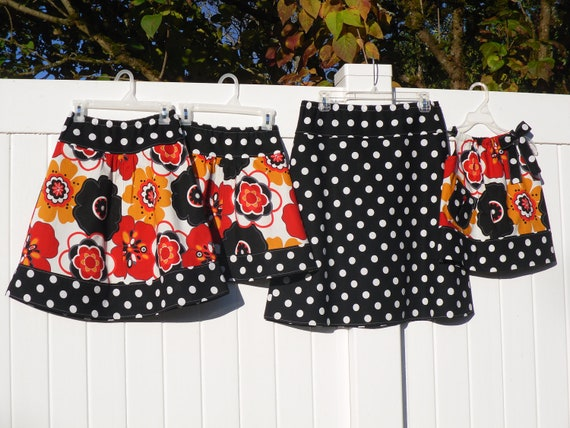 mOmMy AnD mE mAtChiNg SkiRtS, custom design your own,  A-line Skirt in sizes  Toddler's 1-4 and Childrens 5-14, Women's 4-22
