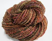96 yds, worsted weight, handspun yarn, 2 ply, 'Sugar Maples'