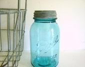 Reserved for Carine   Perfect Mason Jar/Aqua/Zinc Lid/Number 2/Wedding Decor