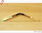 Purse corner guard Metal Edging strip  for make a purse / bag 15.5cm  / Golden D69