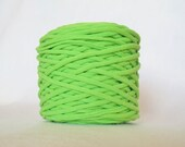 Lime Green Tarn Recycled T-Shirt Yarn 51 Yards
