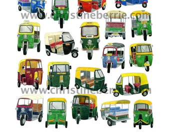 Tuk-tuks - limited edition archival print
