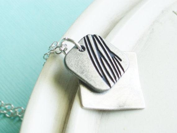 CIJ - Chic Silver Square Necklace