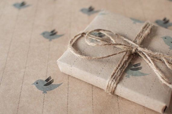 Blue Bird | Wrapping Paper | Gift Wrap | 3 Sheets | Toodles Noodles