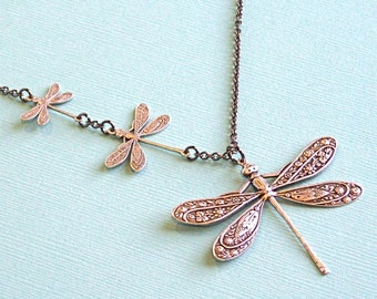 Silver Dragonfly  Jewelry - Necklace