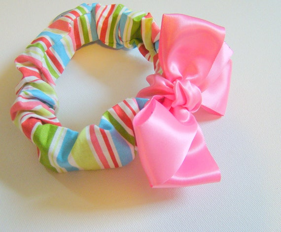 Simply Satin Dog Collar Cover and Removable Bow