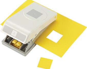 """EK Success Slim 1"""" Square Punch. Great for Collages, Scrapbooking, Pendants and more"""