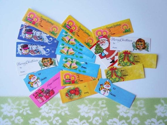 18 Vintage Christmas Gift Tags UNUSED