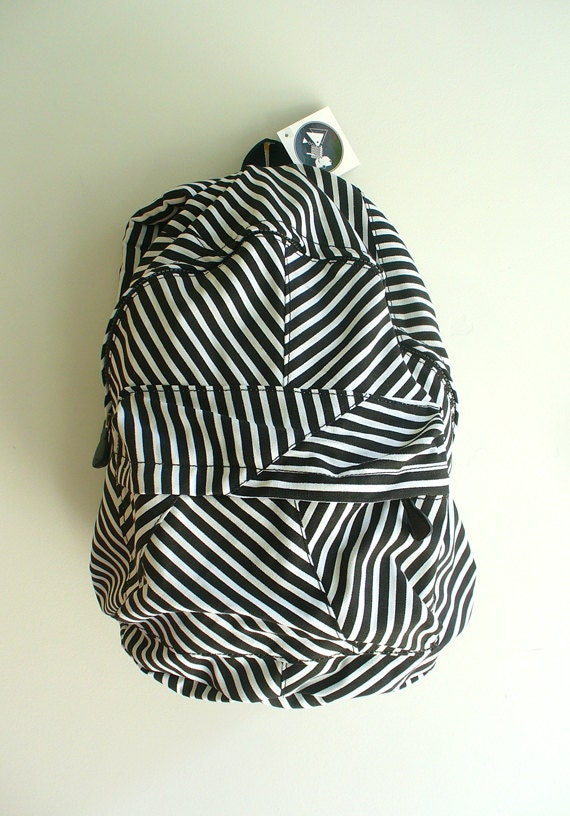 SALE Black and White Chevron Backpack