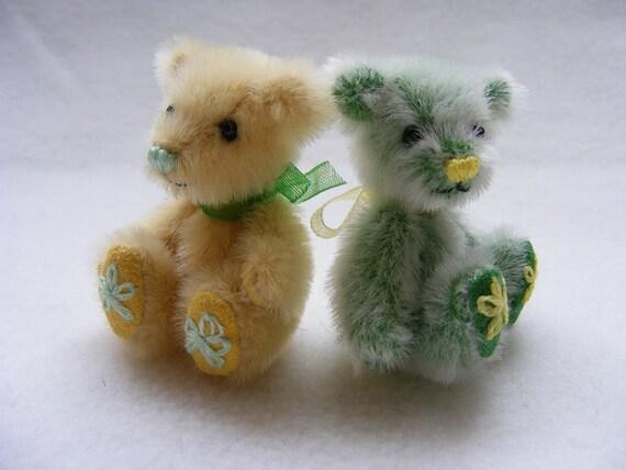 Miniature Artist  Bear Twins - Lemon and Lime
