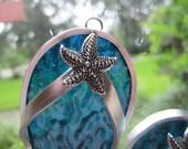 Starfish Flipflops Suncatcher