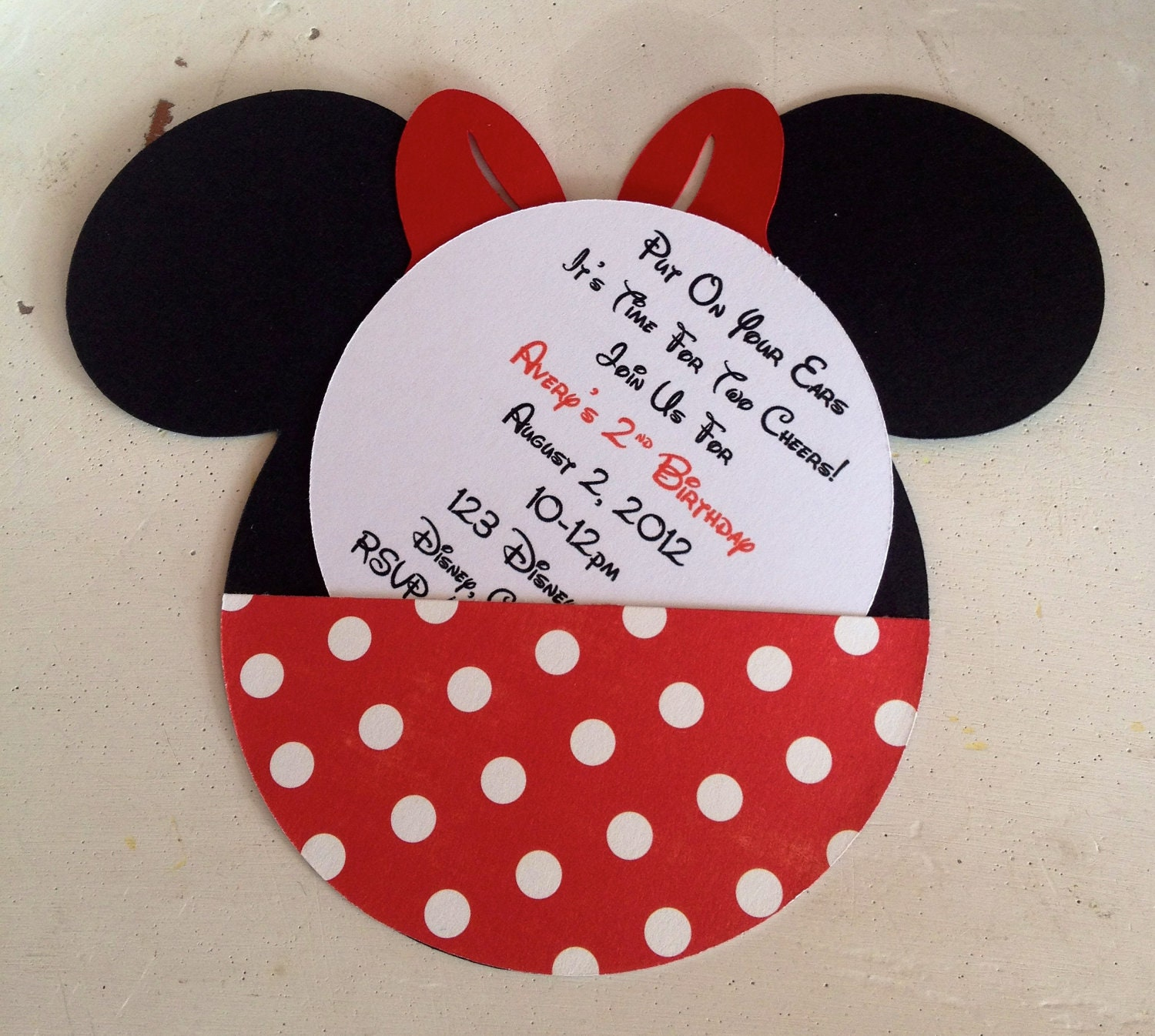 Minnie Mouse Handmade Invitations was adorable invitations design
