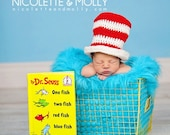 Dr. Seuss inspired Crochet Top Hat Photo Prop Newborn