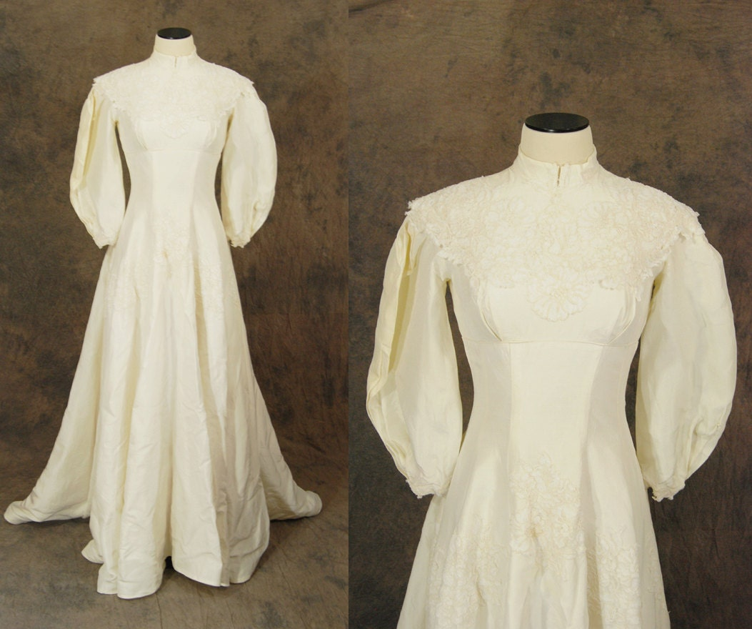 Vintage 40s style wedding dresses : S style wedding dresses clearance vintage